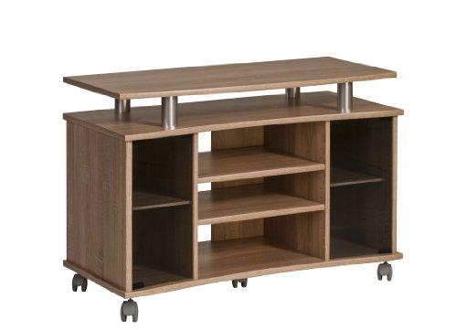 MAJA-Möbel 7362 4825 TV-Rack, Sonoma-Eiche-Nachbildung - Alu-Optik, Abmessungen BxHxT: 99,7 x 67,6 x 45 cm