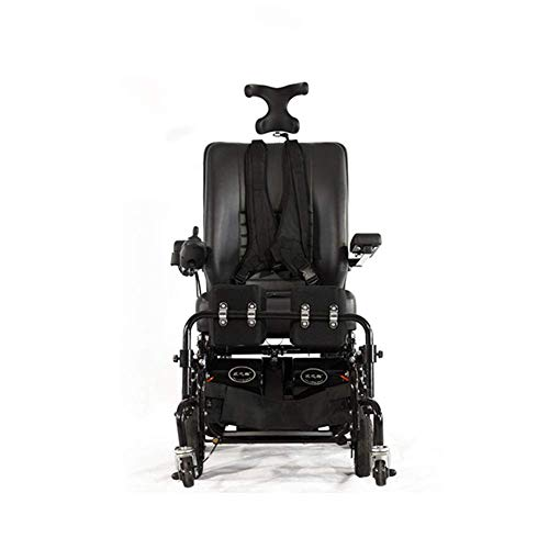 DLY Elderly Disabled Electric Wheelchair Can Stand and Lay Elderly Disabled Scooter Electric Standing Wheelchair Allterrain Wheelchair Outdoor Health Care Wheelchair