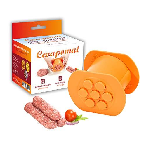 Cevapomat Cevapcici Presse schnell & einfach - auch für Burger, Kroketten, Gnocchi, Churros, Gebäck, Plätzchen