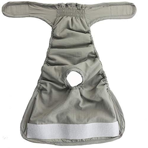 Cheaonglove Läufigkeitshose Für Hündinnen Hundewindel Hundewindeln Weibliches Medium Hundeinkontinenzhose weiblich Welpenwindeln Hygienehosen für Hunde Windel Gray,M