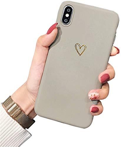Ubeshine Hülle für iPhone XR, Hülle Case für iPhone XR Kreatives 3D Muster Schutzhülle Ultra dünn TPU Silikon Handyhülle Bumper für iPhone XR Mode Chic Bling Herz Kratzfest Schutzhülle für iPhone XR