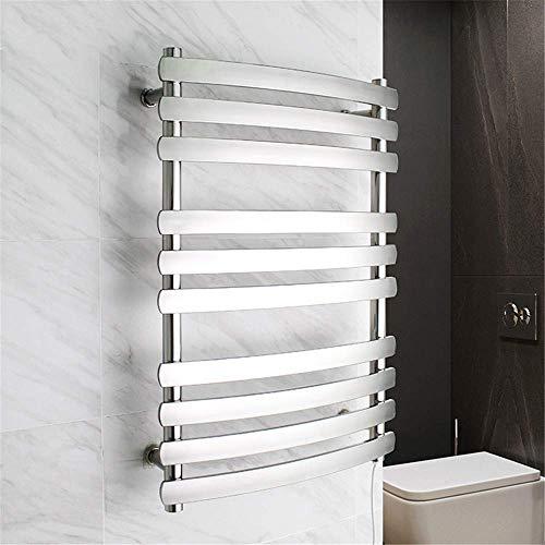 Sèche-serviettes, support de séchage de serviettes électrique 10 barres en acier inoxydable 304, poli brossé Gardez les serviettes et les vêtements au sec Accessoires de salle de bain à la maison Sèc