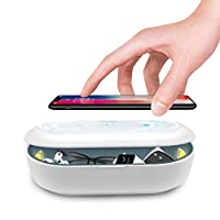 Cahot UV Light Sanitizer Box, Portable Phone UVC Light Sanitizer, UV Sterilizer Box with Aroma Diffuser, Fast Charging for Smart Phone, UV Sterilizing Box for Cell Phone, Jewelry, Watches, Glasses by Cahot