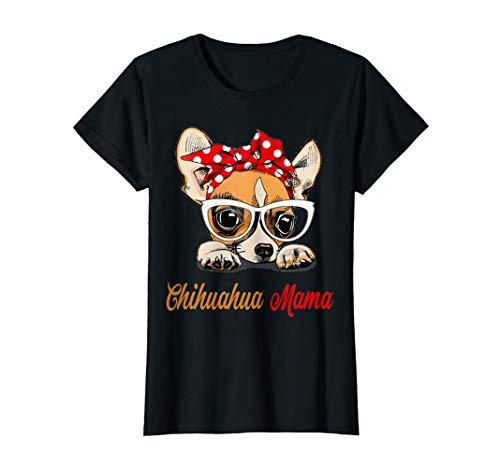 Damen Chihuahua Mama - Süßes Girlie Mom Hund Geburtstag T-Shirt