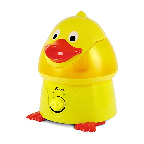 Crane USA Filter-Free Cool Mist Humidifiers for Kids, Duck