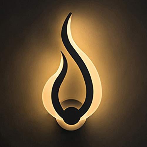 LED Wandleuchte Modern Design Flamme Wandbeleuchtung Wohnzimmer Esszimmer Schlafzimmer Kopfteil Flur Wandlampe Weiß Acryl Eisen Dekorativer Innenbeleuchtung W15.5cm*H31cm 10W Warmes Licht 3000K