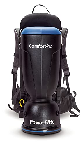 Product Image of the Powr-Flite Comfort Pro Backpack Vacuum Commercial - Canister Vacuum Cleaner – Hepa Filter - BP6S - 6 Quart