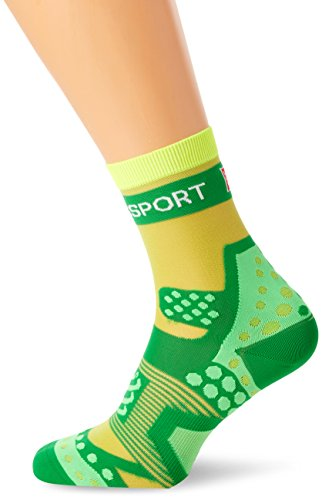 Compressport Run Ultralight - Calcetín de Running Unisex, Color Verde, Talla 1