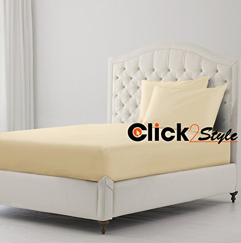 Etagenbett-Spannbetttuch aus Polycotton-Stoff, einfarbiges Spannbettlaken, 75x 190cm von clicktostyle natur