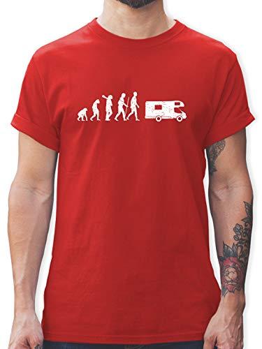Evolution - Evolution Camper weiß - 3XL - Rot - Tshirt Camping - L190 - Tshirt Herren und Männer T-Shirts