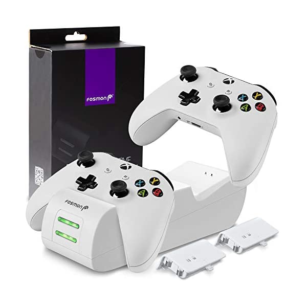Fosmon Dual Controller Charger Compatible with Xbox One/One X/One S Elite Controllers,...