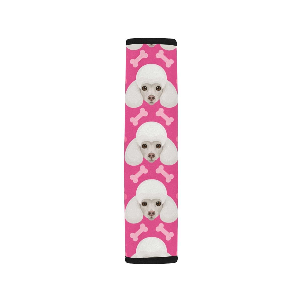 2pcs Car Seat Belt Cover Shoulder Adorable Poodle Limited price Under blast sales sale Seatbelt Cute