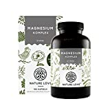 Magnesium Komplex - 400mg elementares Magnesium je Tagesdosis. Magnesiumcitrat, Magnesiumoxid, Magnesiumbisglycinat, Magnesiummalat, Magnesiumscorbat. Vegan und hochdosiert