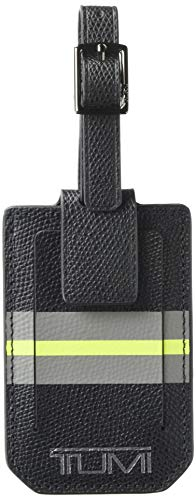 TUMI - Province Luggage Tag - Suitcase Identifier for Men and Women - Black Stripe