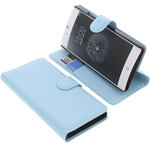 foto-kontor Tasche für ZTE Nubia Z9 Mini Book Style blau Schutz Hülle Buch