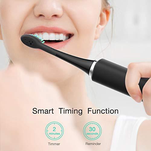 Brosse à dent électrique Homever Brosse à dent sonique, 25 jours d'utilisation minimum, 6 Modes en option et 3 têtes de rechange pour adultes