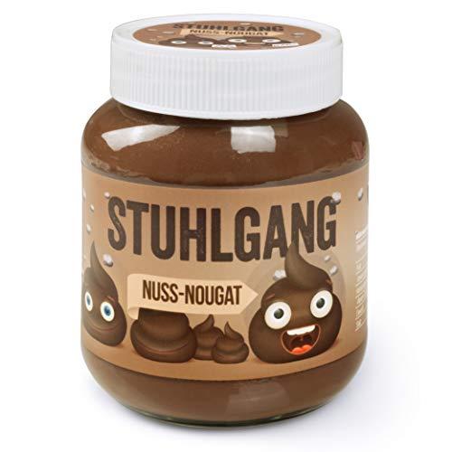 Stuhlgang Scherzartikel für Männer Extrem lustige Geschenke für Männer Nuss Nougat – Etikett mit Kack Emojis – 400g Glas