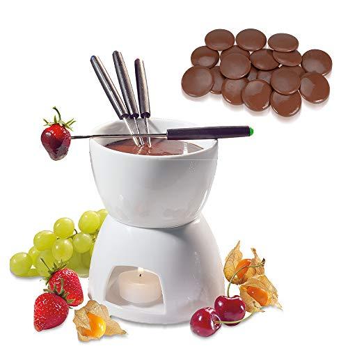 cilio Schokoladenfondue Set + Städter Kuvertüre-Drops (Edelvollmilch)