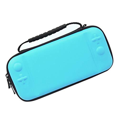 H HILABEE para Switch Lite Bolsa de Almacenamiento de Consola Bolsa Protectora de EVA Dura - Azul