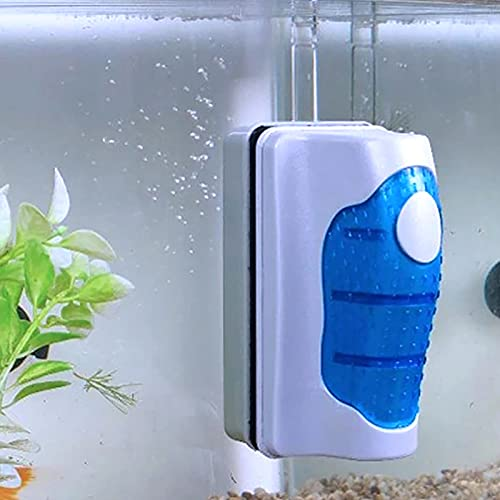 Raspador magnético, depurador de algas de cristal para acuario, acuario flotante magnético tanque de peces depurador de algas para limpieza de algas acuáticas (XL)