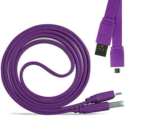 Fonetic Solutions (Viola) Cavo di Ricarica Rapida Micro Dati USB Veloce da 1 Metro Compatibile con Oukitel U7 Plus