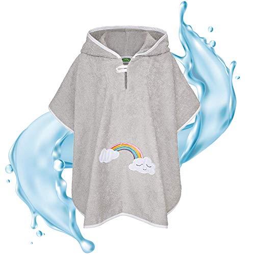 Poncho de bain Smithy® pour enfant en coton éponge – Sans substances nocives et certifié Ökotex - Gris -