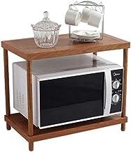 Microondas digitales horno Microondas soporte del estante de preparación en la cocina del estante del estante del estante organizador Tostadora Organizador microondas horno de carro 2 Niveles ahorrar