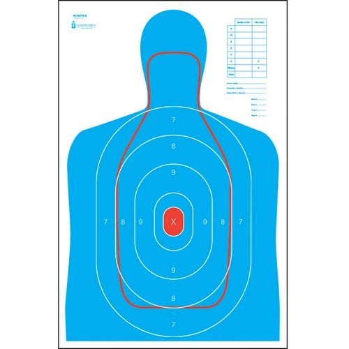 Action Target - B-27E and FBI Q Combination Paper Target - 100 Pack - Paper Targets, Shooting Targets