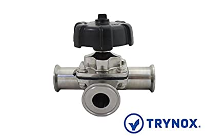 """Trynox Clamp Sanitary Stainless Steel Diaphragm Valve Branch 316L 2""""x1.5"""" Sanitary Fitting from Trynox"""