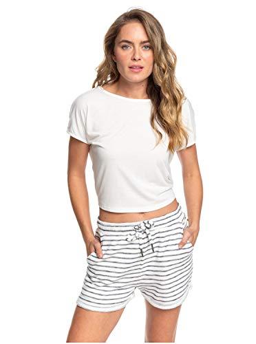 Roxy Trippin - Sweat Shorts, Pantalones Cortos de Pana Mujer, Mood Indigo ZOUPLA HORIZONTALE, S