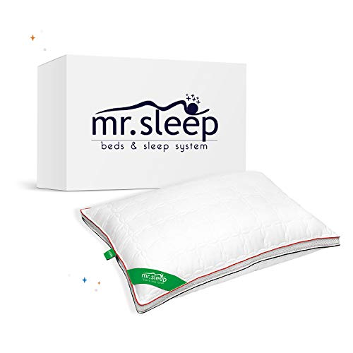 mr.sleep | Klima Kissen lässt Luft während des Schlafs zirkulieren Nackenstützkissen antiallergisch Baumwolle | 50 x 70 cm