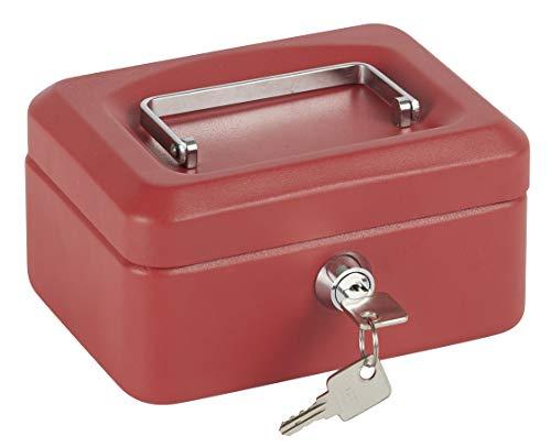 Arregui 1832D39 Caja de Caudales con Bandeja, Rojo, 152 x 80 x 118 mm