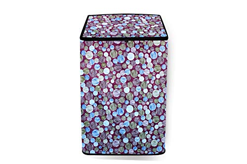 Stylista Washing Machine Cover Suitable for Godrej 6.2 Kg Fully-Automatic Top Loading WT EON 620 Abstract Multi Color Light