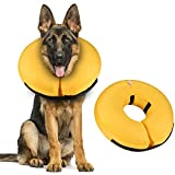Pet Inflatable Collar for After Surgery,Soft Protective Recovery Collar-Large Dog Cone for Dogs to Prevent from Touching Stitches,Rashes and Wounds,Does not Obstruct Dog Vision-Postoperative Collar