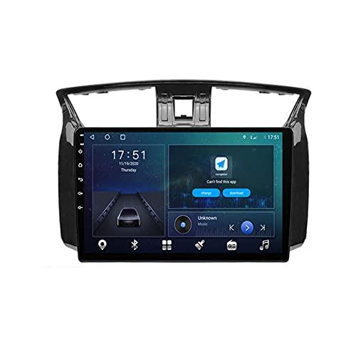 GOHHK 4g + 64g GPS Radio De Automóvil para Nissan Sentra 2012-2015 Player Video Multimedia Android 10.0 OBD Dsp Video Auto Carplay No 2 DIN DVD(Size:Ocho núcleos,Color:WiFi:2GB+32GB)