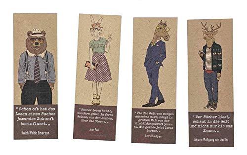 Lesezeichen - 40 recycelte, umweltfreundliche Lesezeichen, ideal für Schulbelohnungen oder kleine Preise.