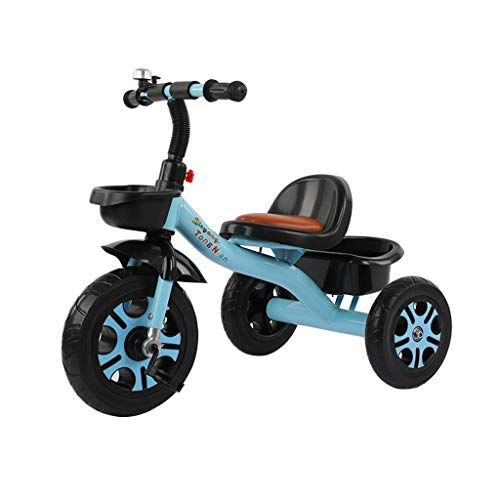 Best Gift Two Colors to a Two-Year-Old Boys and Girls of The Tricycle is Suitable for 2-6 Year-Old Children to Ride a Balanced Bike of Baby Walker Balance Storage Basket with Baby (Color : Blue)