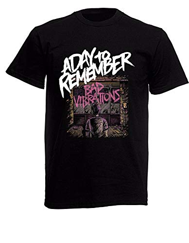 A Day to Remember Bad Vibrations Mens Unisex Black Rock T-Shirt Sizes S-XXXL