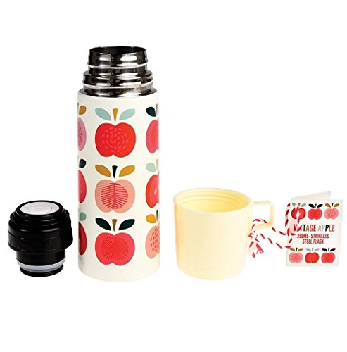 dotcomgiftshop Thermoskanne 27059 Vintage Apple mit Äpfeln