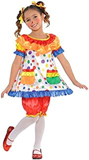 amscan Circus Carnival Party Clown Polka Dot Dress & Bloomers Costume (2 Piece), 19.5