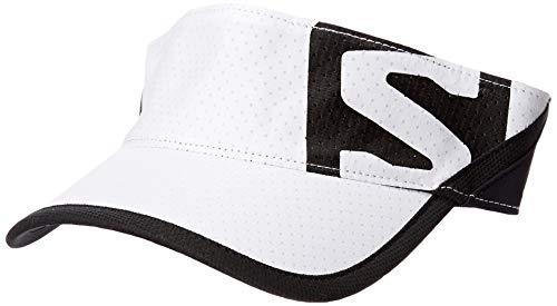 Salomon LC1041900 XA Visor Visiera, Unisex, Taglia Unica Regolabile, Bianco