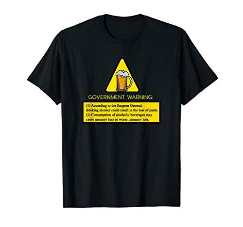 Kann Alkohol Warnung Enthalten T-Shirt