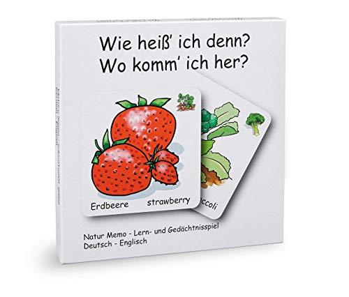 loodaloo Lernspiel für Kinder ab 3 Jahren. 72 Karten in Deutsch und Englisch. Fördert Lernen, Sprache und Wortschatz.