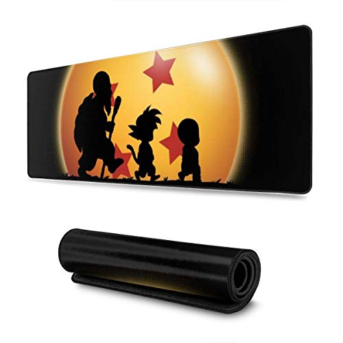 Extra Large Mouse Pad -Kame Forest Silhouette Dragon Ball Z Desk Mousepad - 31.5'''' X 11.8''''X0.12''(3mm Thick)- XL Protective Keyboard Desk Mouse Mat for Computer/Laptop