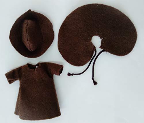Folk Artesanía Vestido y complementos Regional típico Peregrino o Peregrina muñeca Barriguitas de Famosa. Muñeca no incluida en el Lote.