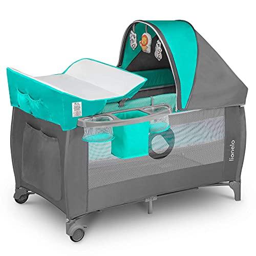 Lionelo Sven Plus 2en1 Cuna de viaje y parque de bebés 125 x 65 x 77 cm 0-36M Para niños...