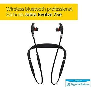 Jabra Evolve 75e MS Bluetooth Wireless In-Ear Earphones with Mic - Noise-Canceling