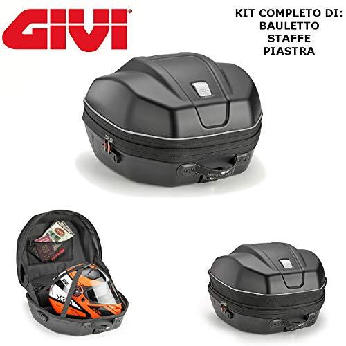 Maleta semirrígida baúl WL901 + Casquillo SR2139 Monokey + Placa M5 Yamaha Tracer 900 GT 2018 2019 Givi Extensible 29/34 l