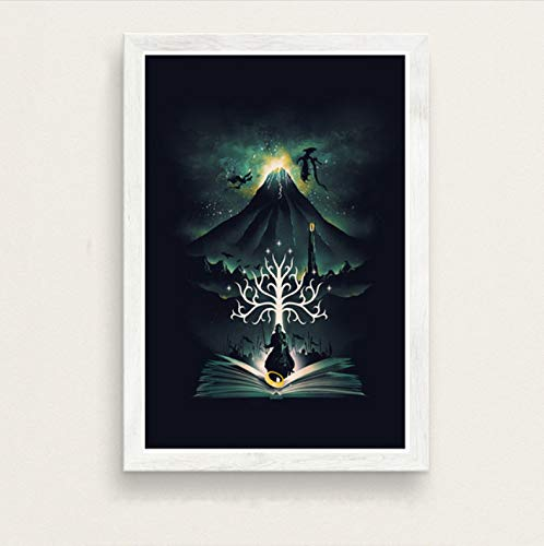 zpbzambm Frameless Wall Painting 40X50Cm - Fantastic Beasts Lord Of The Rings Alice In Wonderland Art Film Silk Painting Canvas Wall Poster Home Decor Zp-1780