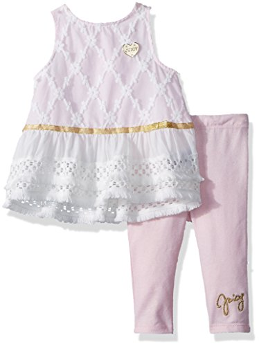 Juicy Couture Baby Girls 2 Pieces Tunic Set, Light Pink/Vanilla, 3-6 Months